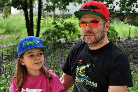 Czapka Wędkarska Dla Dzieci Na Ryby Red Pike Premium Twill Snapback - Niebieska Yupoong