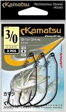 Kamatsu Haczyk Offset Spring Lock K-2435 7/0  Op.3szt