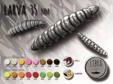 Libra Lures Larva 3,5cm Kolor 017 Bubble Gum Zapach Cheese op.12szt