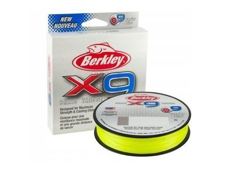 Plecionka Berkley X9 Fluoro Green  0,17mm 9,07kg 150m