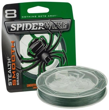 Spiderwire Plecionka Stealth Smooth 8 Moss Green 150m 29.483kg 0,35mm