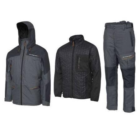 Zestaw wędkarski Savage Gear THERMO GUARD 3-częściowy Kurtka Bluza Spodnie Ciemnoszary